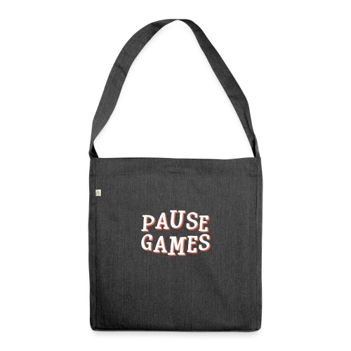 Pause Games Text - Shoulder Bag made from recycled material