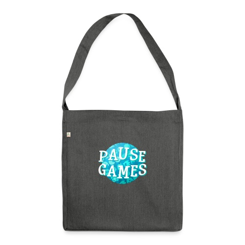 Pause Games New Design Blue - Shoulder Bag made from recycled material