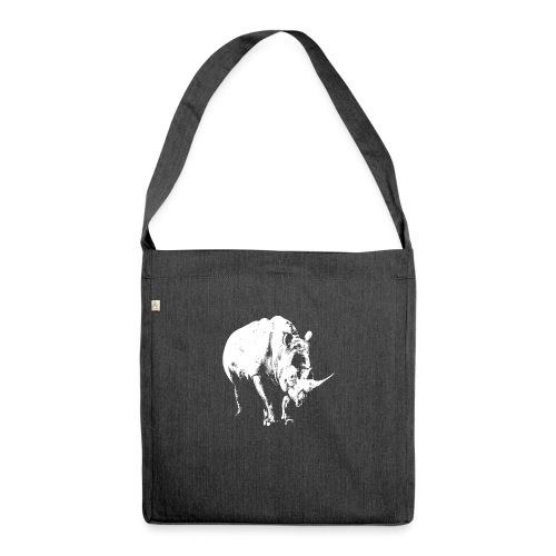White Rhinoceros (highlights only) - Shoulder Bag made from recycled material