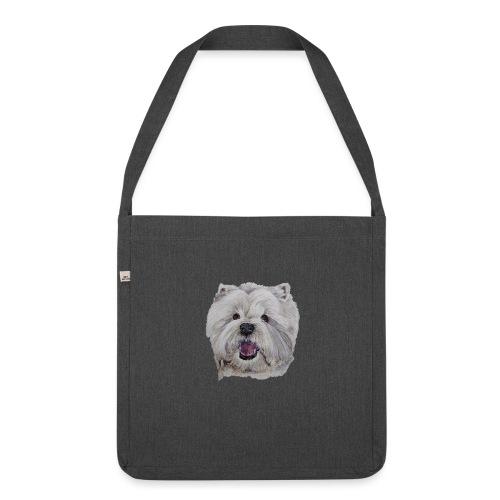westhighland White terrier - Skuldertaske af recycling-material