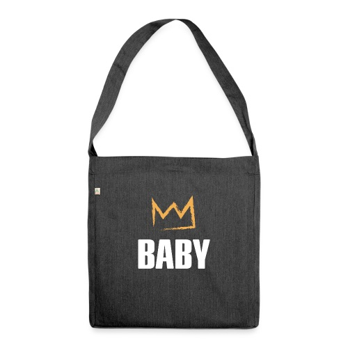 Baby mit Krone - Schultertasche aus Recycling-Material