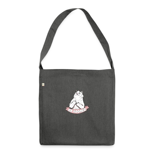OK Boomer Cat Meme - Shoulder Bag made from recycled material
