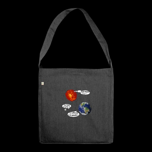 mg suffering planet - Schultertasche aus Recycling-Material