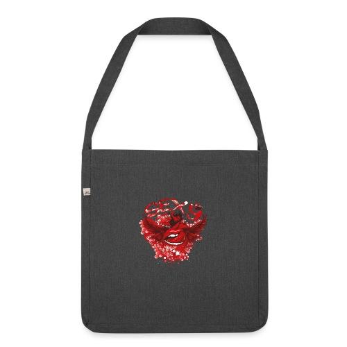 SEXY Lips heart Wings - Sexy Lippen Herz Flügel - Schultertasche aus Recycling-Material