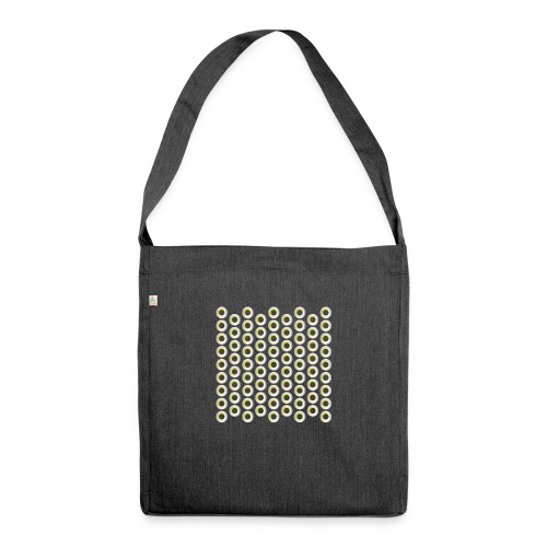 linea pattern circle - Schultertasche aus Recycling-Material