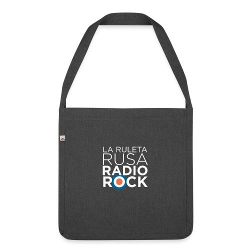 La Ruleta Rusa Radio Rock. Retrato blanco - Bandolera de material reciclado