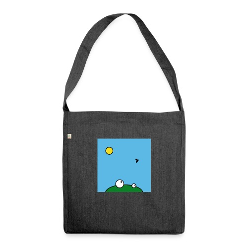 Hungry Frog - lunch time - Shoulder Bag made from recycled material