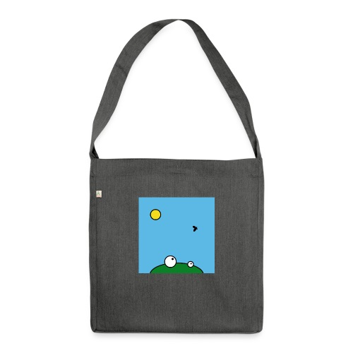 Hungry Frog - lunch time - Schultertasche aus Recycling-Material