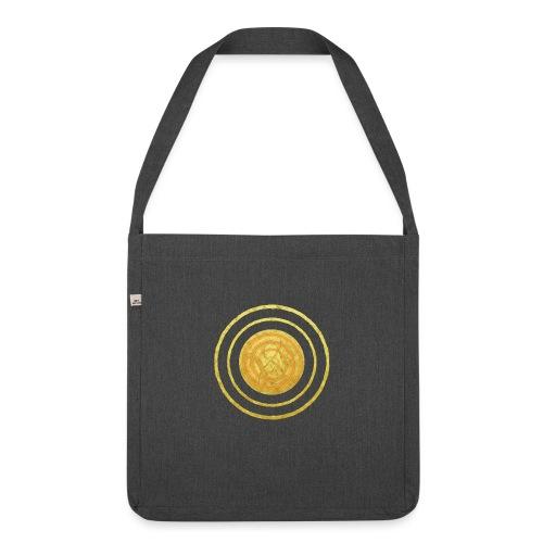 Glückssymbol Sonne - positive Schwingung - Spirale - Schultertasche aus Recycling-Material
