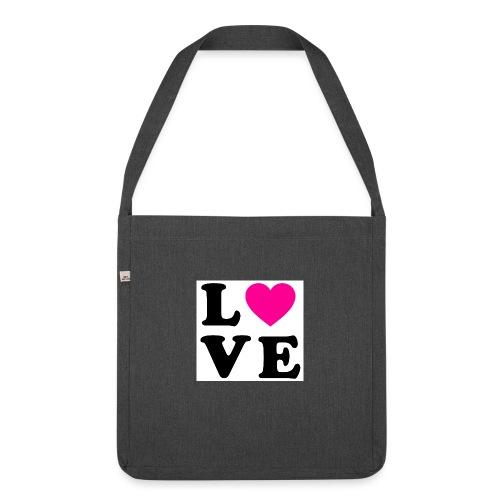 Love t-shirt - Sac bandoulière 100 % recyclé