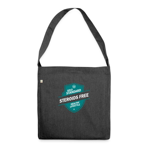 GoldStd-SteroidsFree-33 - Shoulder Bag made from recycled material