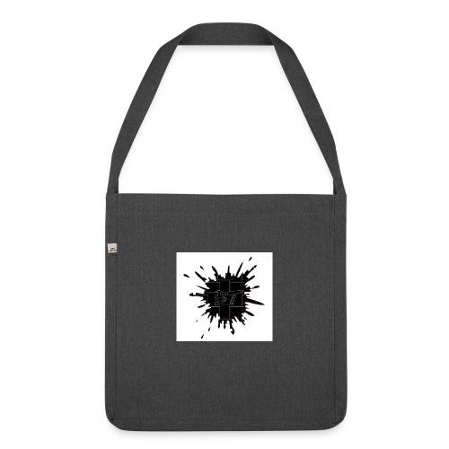 Blacktuber Splash Logo - Schoudertas van gerecycled materiaal