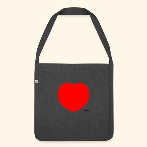 Heart - Schultertasche aus Recycling-Material