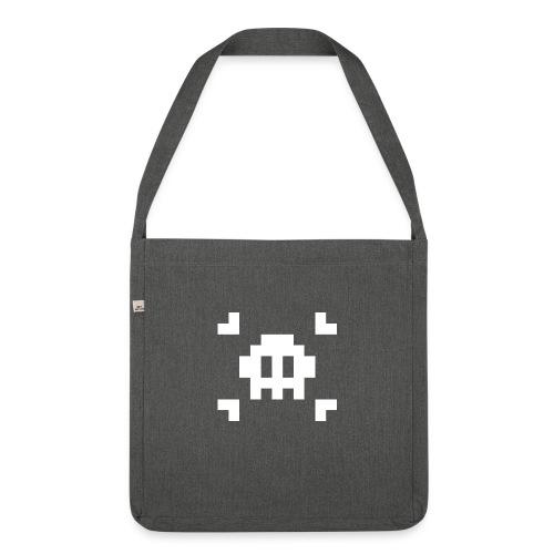 Pixel Skull - Sac bandoulière 100 % recyclé
