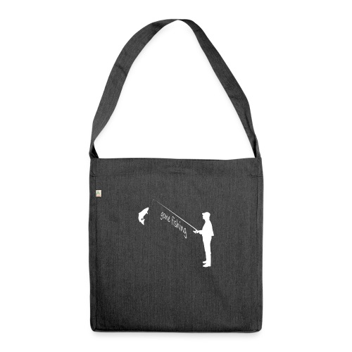 gone fishing - Schultertasche aus Recycling-Material