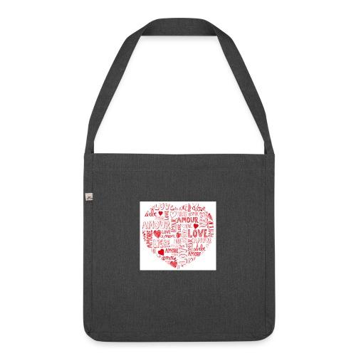 T-shirt texte amour - Sac bandoulière 100 % recyclé