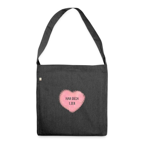 HAB DICH LIEB - Schultertasche aus Recycling-Material
