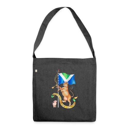 Vegan flag design by Maria Tiqwah - Shoulder Bag made from recycled material