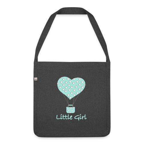 Little Girl in mongolfiera - Borsa in materiale riciclato