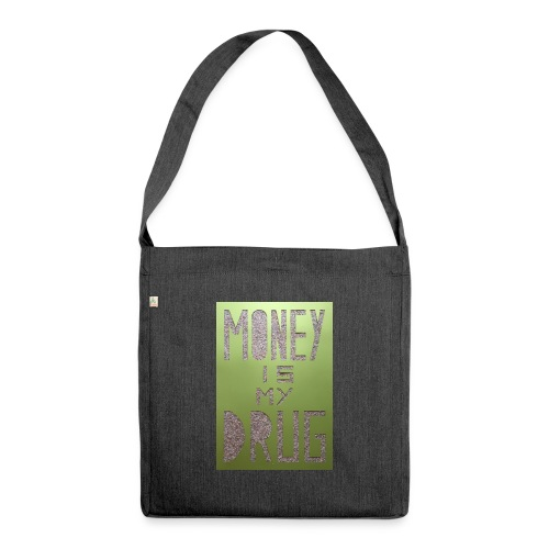 Thomas Schöggl ART MONEY IS MY DRUG - Schultertasche aus Recycling-Material