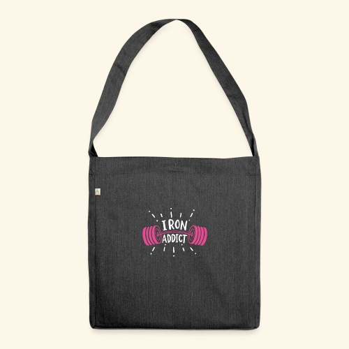 Iron Addict I VSK Funny Gym Shirt - Schultertasche aus Recycling-Material