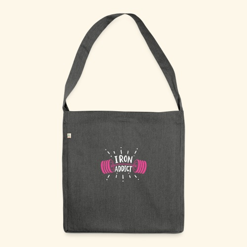 VSK Lustiges GYM Shirt Iron Addict - Schultertasche aus Recycling-Material