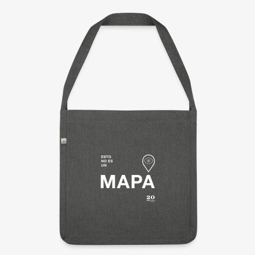 mapa - Bandolera de material reciclado