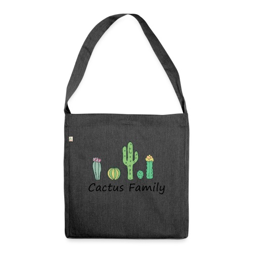 Cactus family - Schultertasche aus Recycling-Material