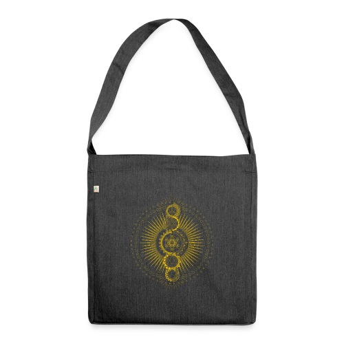 Sacred Geometry Metatron's Cube Gold Transcendence - Shoulder Bag made from recycled material