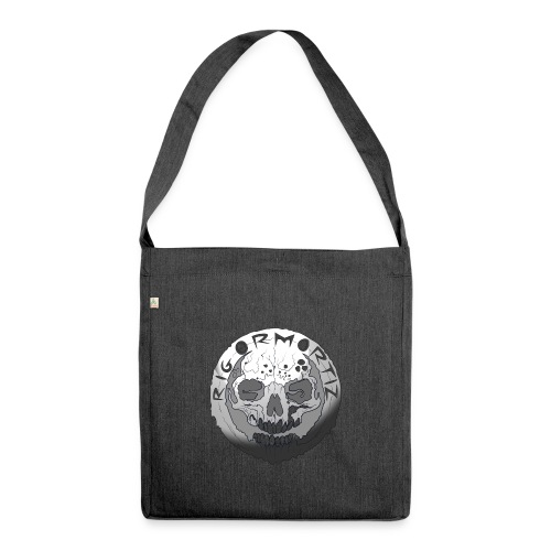 Rigormortiz Black and White Design - Shoulder Bag made from recycled material