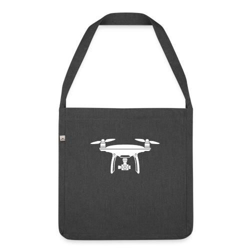 Drone Symbol Dronenpilot fliegen Technik - Schultertasche aus Recycling-Material