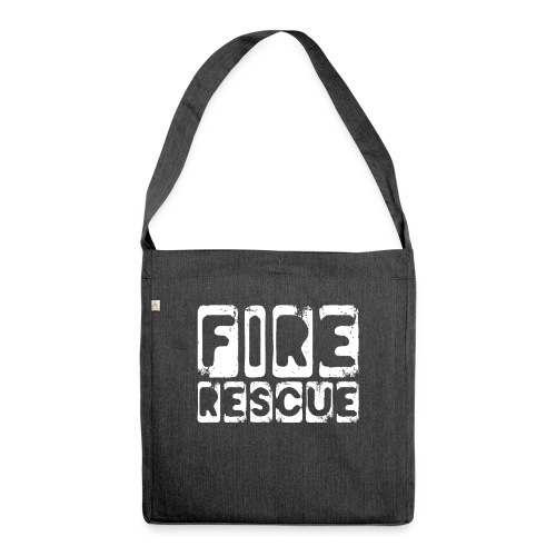 Fire Rescue Feuerrettung Feuerwehr Retter - Schultertasche aus Recycling-Material