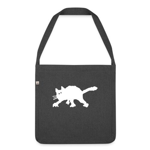 Katze - Schultertasche aus Recycling-Material