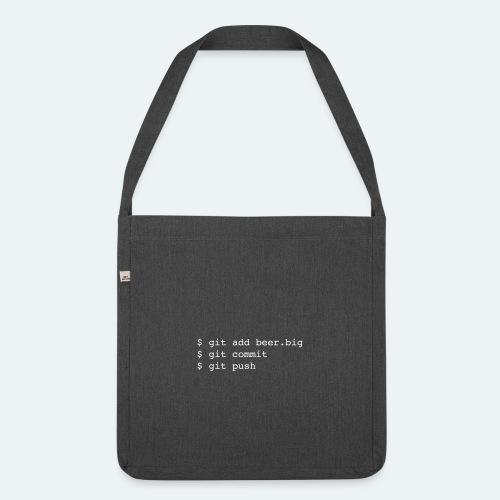 Bier Git Befehle Geschenk für Informatiker - Schultertasche aus Recycling-Material