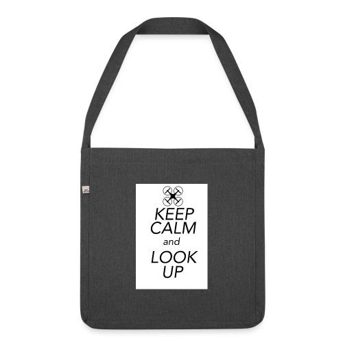Keep Calm and Look Up - Schoudertas van gerecycled materiaal