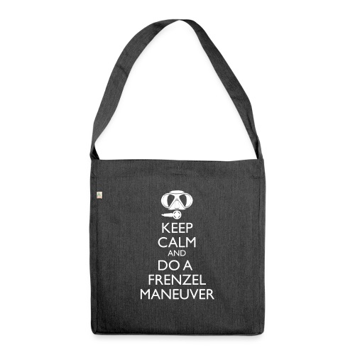 Keep calm and Frenzel - Schultertasche aus Recycling-Material