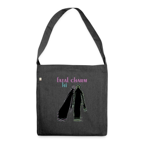 fatal charm - hi album cover art - Shoulder Bag made from recycled material