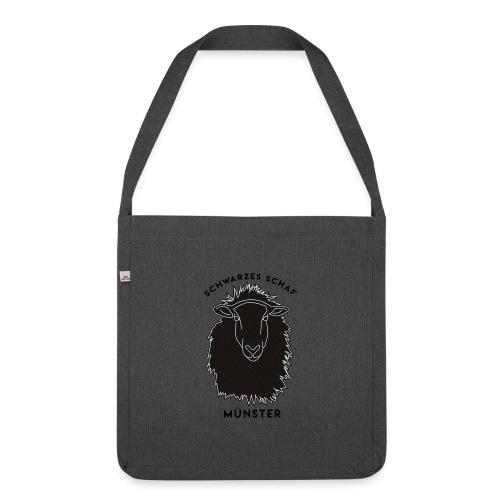 Schwarzes Schaf Logo & Schrift - Schultertasche aus Recycling-Material