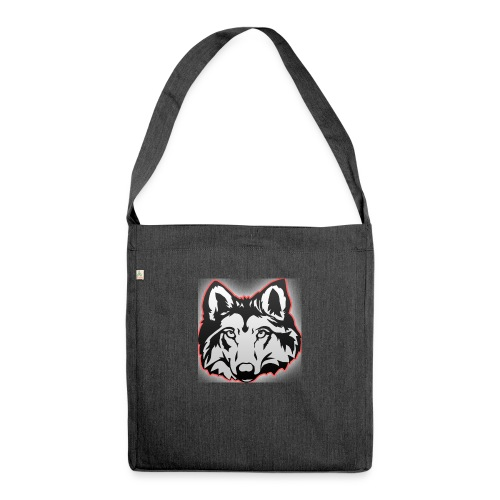 Wolfie (Red) - Shoulder Bag made from recycled material