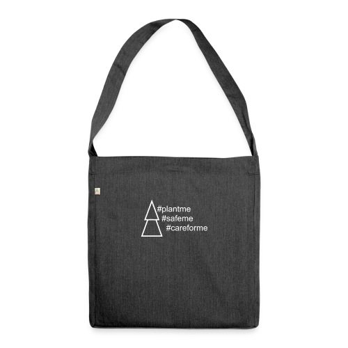 Plant me! - Schultertasche aus Recycling-Material