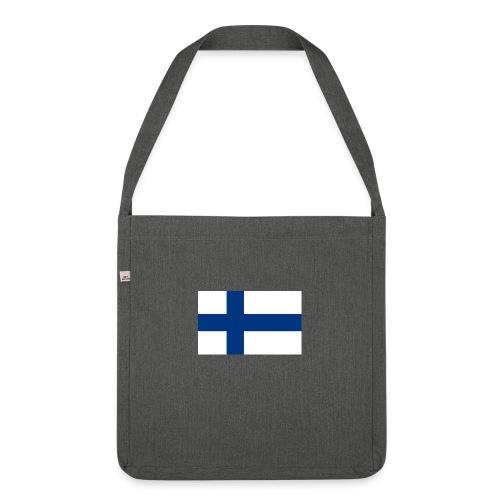 800pxflag of finlandsvg - Olkalaukku kierrätysmateriaalista