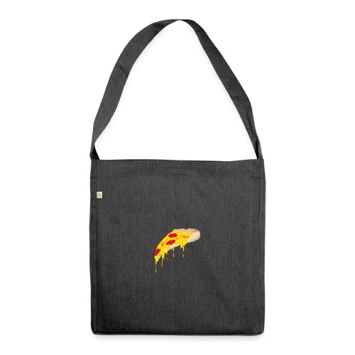 Svævende Pizza. - Skuldertaske af recycling-material