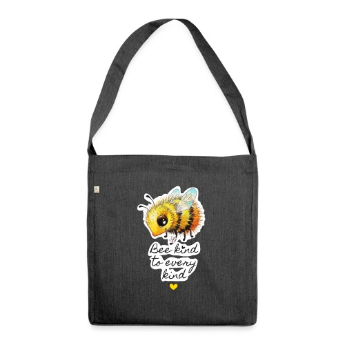 Bee kind - Shoulder Bag made from recycled material