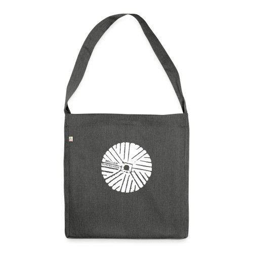 White chest logo sweat - Shoulder Bag made from recycled material