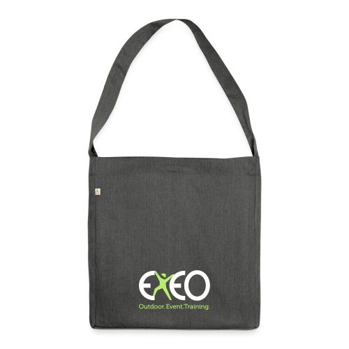 EXEO Logo rot Claim - Schultertasche aus Recycling-Material