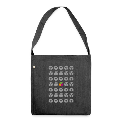 grid semantic web - Shoulder Bag made from recycled material
