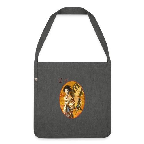 Vintage Japanese Geisha Oriental Design - Shoulder Bag made from recycled material