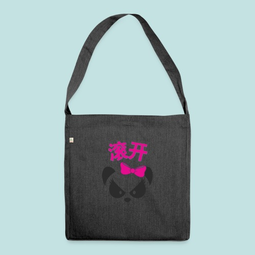 Sweary Panda - Shoulder Bag made from recycled material