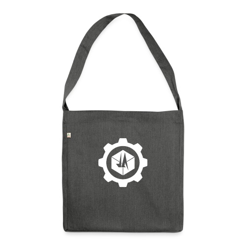Jebus Adventures Cog White - Shoulder Bag made from recycled material
