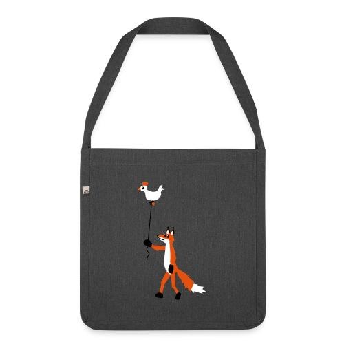 Fuchs und Henne - Schultertasche aus Recycling-Material